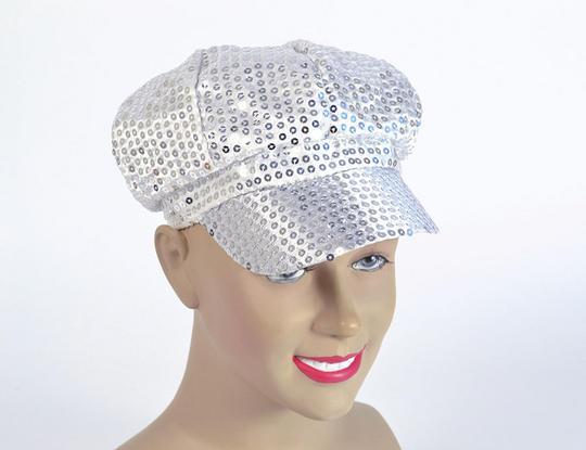 Sequin Cap. 80s Style Silver Thumbnail 1