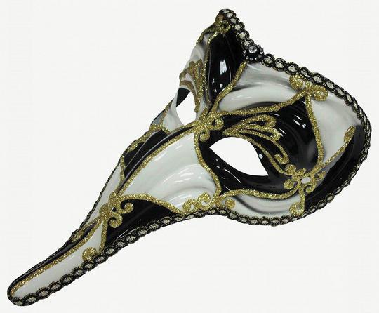 Loki Mask. Black / White Thumbnail 1