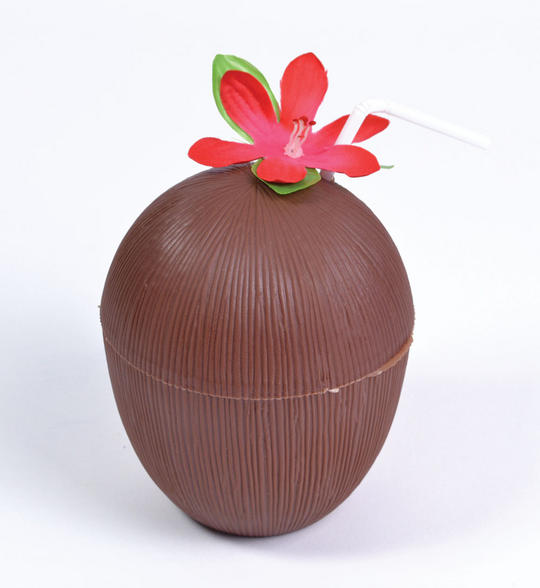 Coconut Cup. Flower + Straw Thumbnail 1