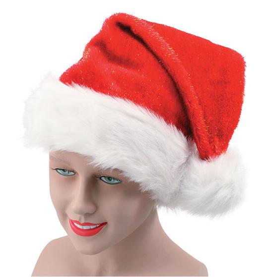Santa Hat. Plush Glitter Thumbnail 1