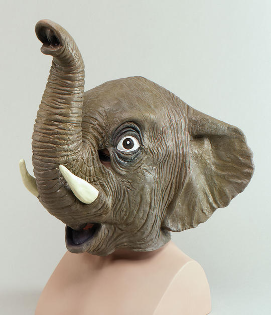 Animal Rubber Ohead Mask. Elephant Thumbnail 1