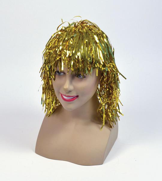 Tinsel Wig. Gold Thumbnail 1