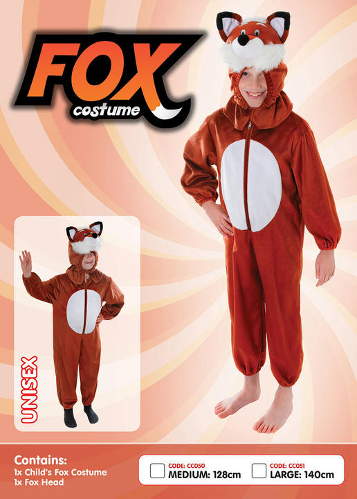 Childs Fox Costume Medium Thumbnail 1