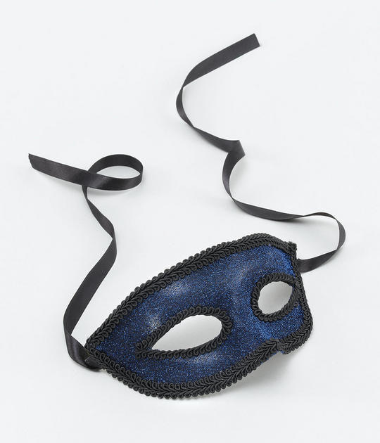 Blue Eye Mask + Ribbon Tie Thumbnail 1