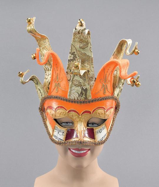 Venetian Jester. Orange/Gold Thumbnail 1
