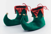 Deluxe Elf Shoes With Mock Bells Adult