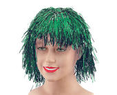 Tinsel Wig.  Green
