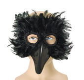 Black Bird Feather Eye Mask
