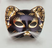 Black/Gold Cat Mask