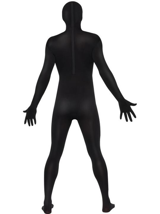 Black Second Skin Suit Fancy Dress Costume Thumbnail 4