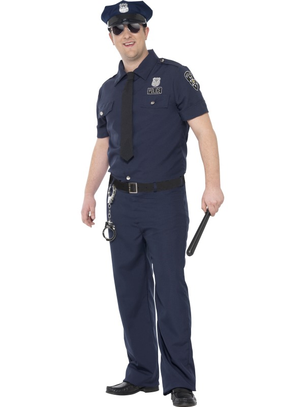 Men's Curves NYC Cop Fancy Dress Costume