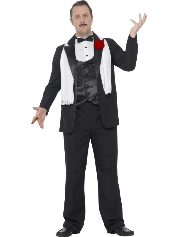 Men's Curves Gangster Fancy Dress Costume