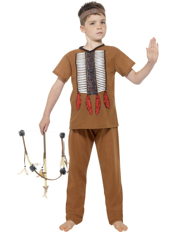 Boy's Native Indian Warrior Costume