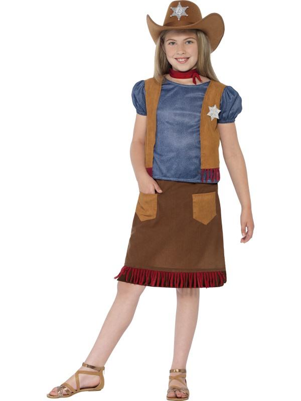 Girl's Western Belle Cowgirl Fancy Dress Costume
