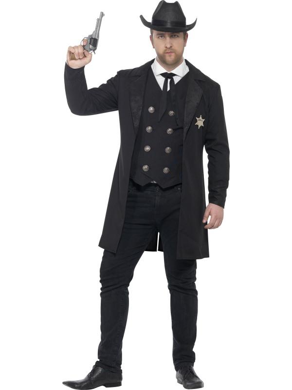 Men's Curves Sheriff Fancy Dress Costume
