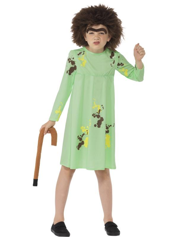 Girls Mrs Twit Costume kids Roald Dahl school book week Story Fancy Dress outfit