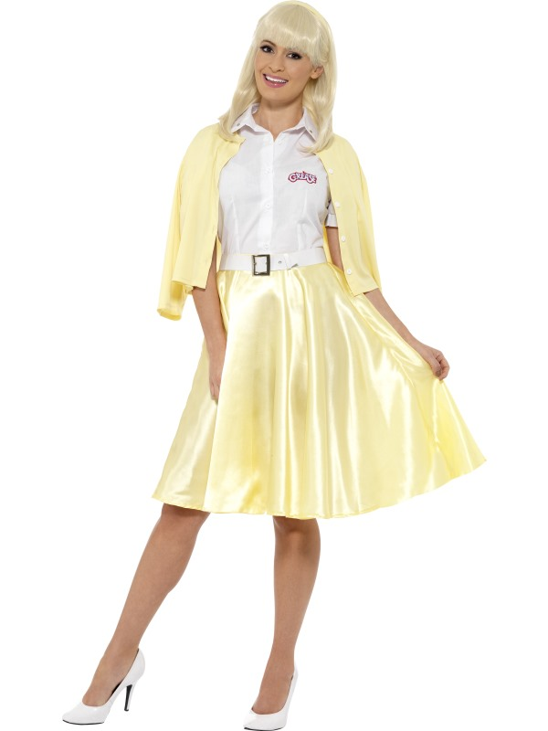 Sandy Grease Movie 1950s Ladies Fancy Dress Womens Costume Party Outfit Cheer