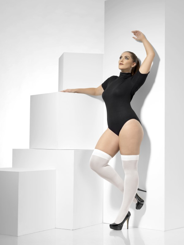 Opaque Hold-Ups plus size