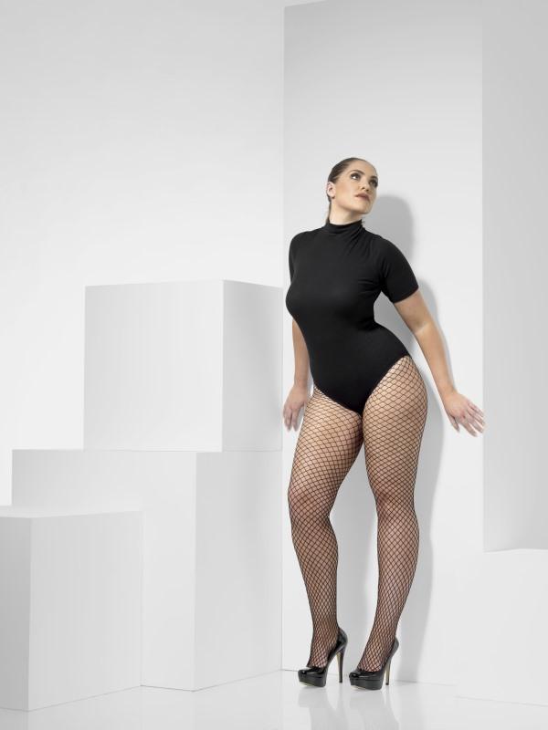 Lattice Net Tights plus size