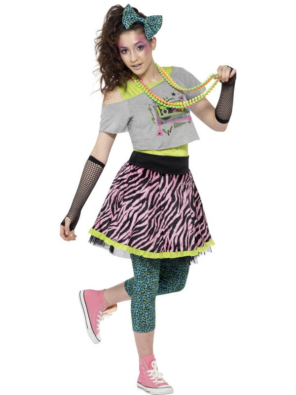 Remember The 80's Wild Child Ladies Fancy Dress Costume Hen Night Outfit