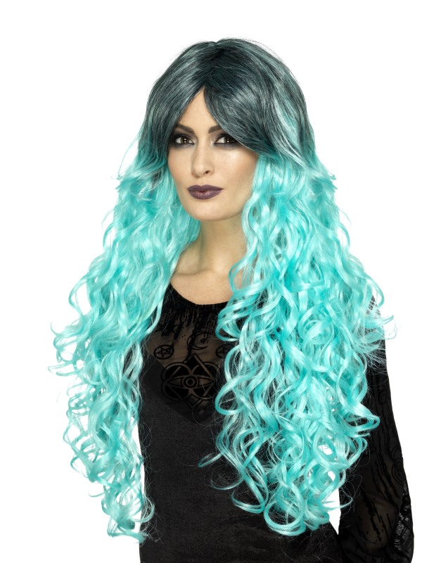 Gothic Glamour Wig, Teal