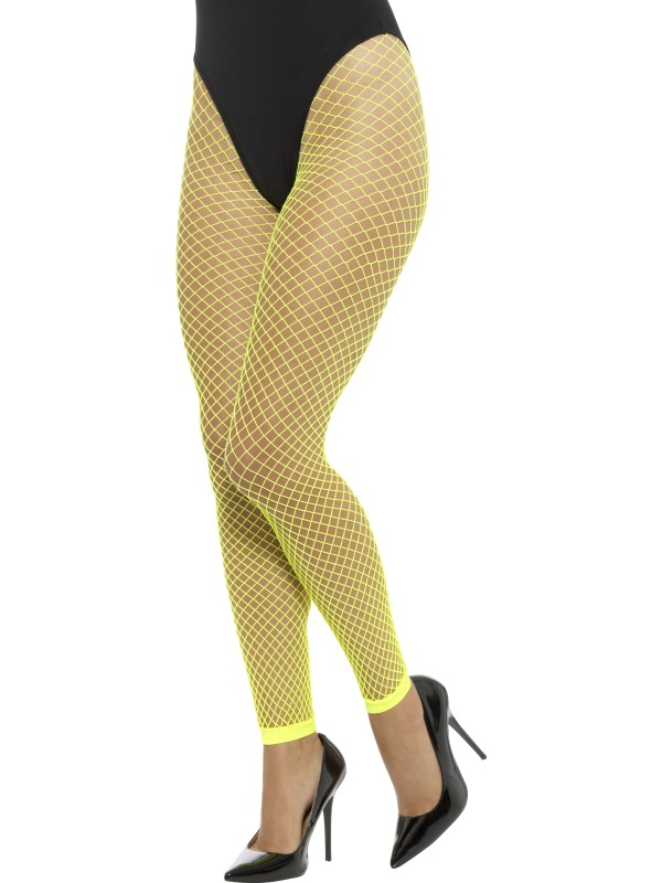 Footless Net Tights Yellow