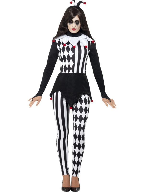 Women's Jester Fancy Dress Costume