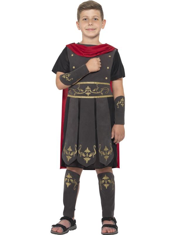 Boys Roman Soldier Costume Kids School Book Week Gladiator Fancy Dress Outfit