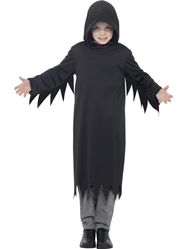 Boys Halloween Dark Reaper Costume Kids Horror Fancy Dress Outfit