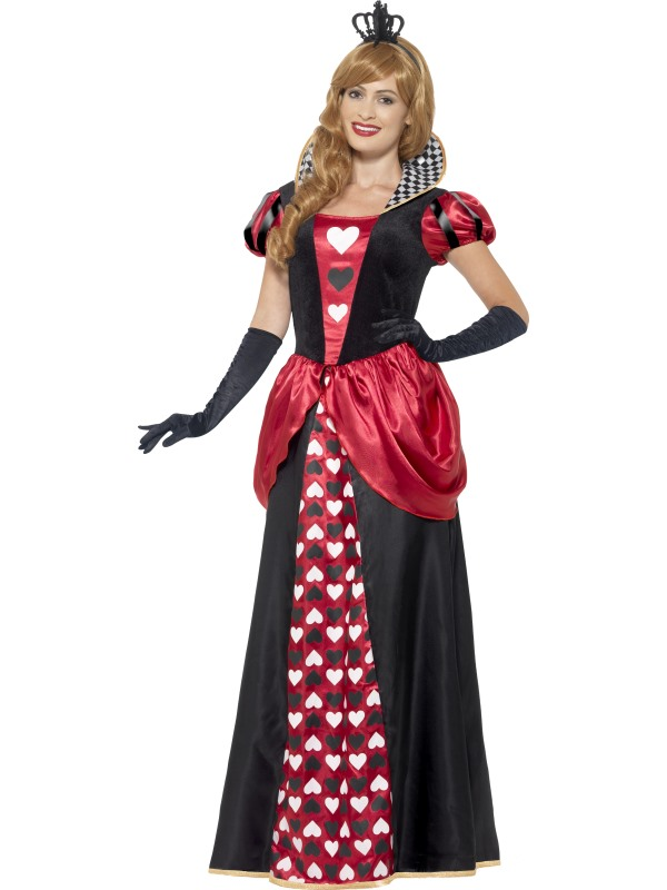 Women's Royal Red Queen Fancy Dress Costume