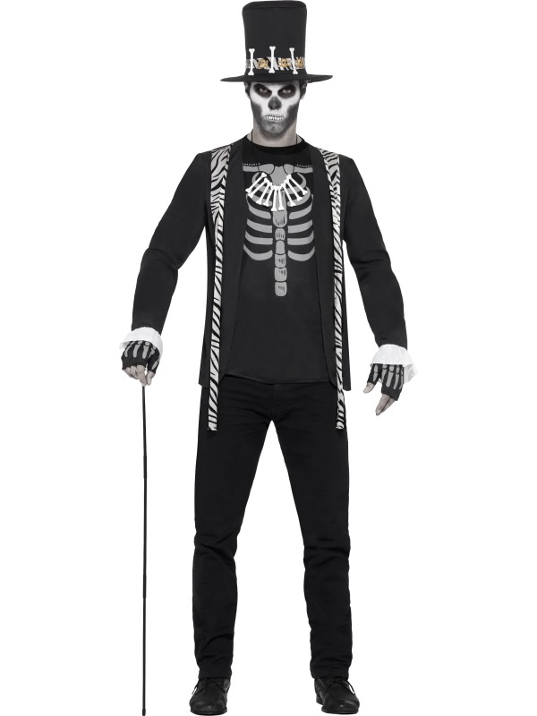 Mens Halloween Witch Doctor Costume Gents Halloween Fancy Dress Outfit
