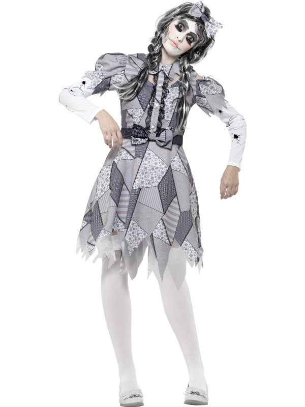 Women's Damaged Doll Fancy Dress Costume