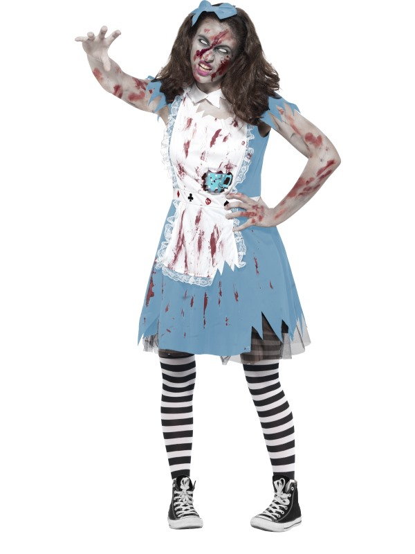 Teen Girl's Zombie Tea Party Costume