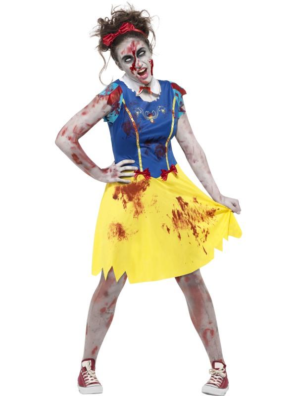Teen Zombie Miss Snow Fancy Dress Costume