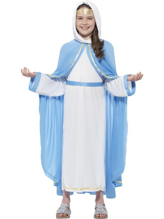 Girl's Nativity Mary Costume Thumbnail 1