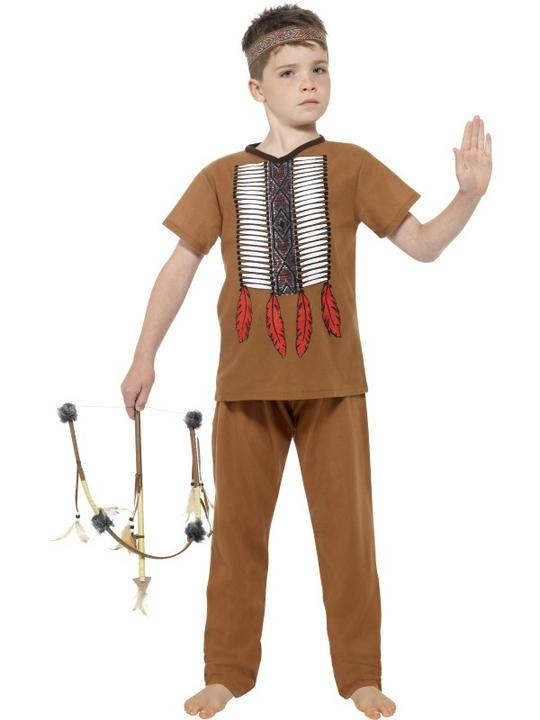 Boy's Native Indian Warrior Costume Thumbnail 1