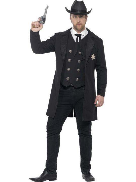 Men's Curves Sheriff Fancy Dress Costume Thumbnail 1