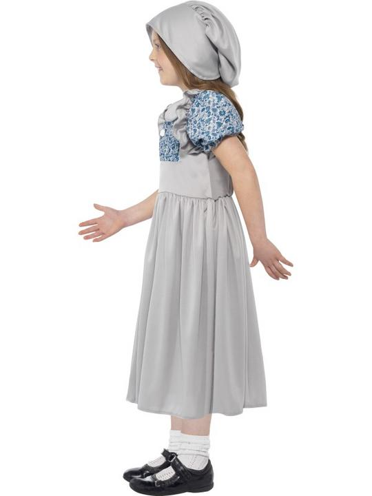Girls Victorian School Girl Book Week Costume Kids Fancy Dress Outfit Thumbnail 2