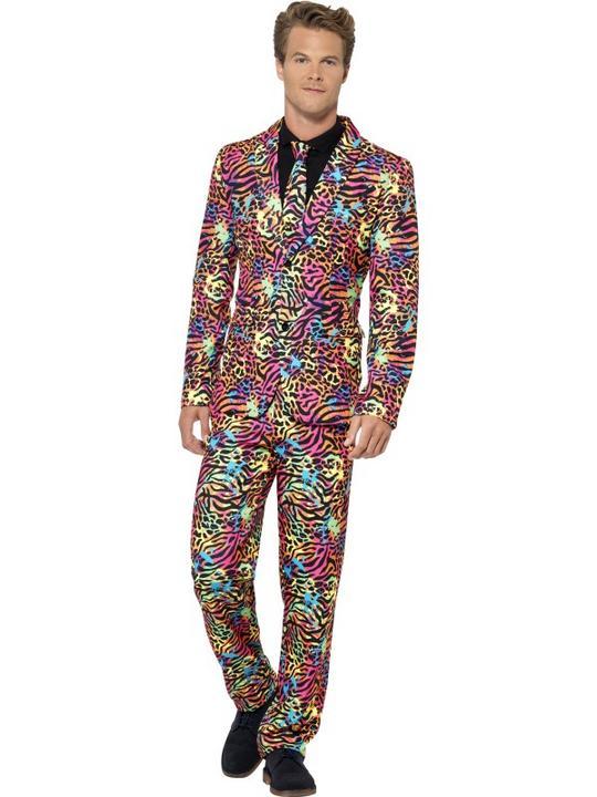Neon Suit Fancy Dress Costume Thumbnail 1