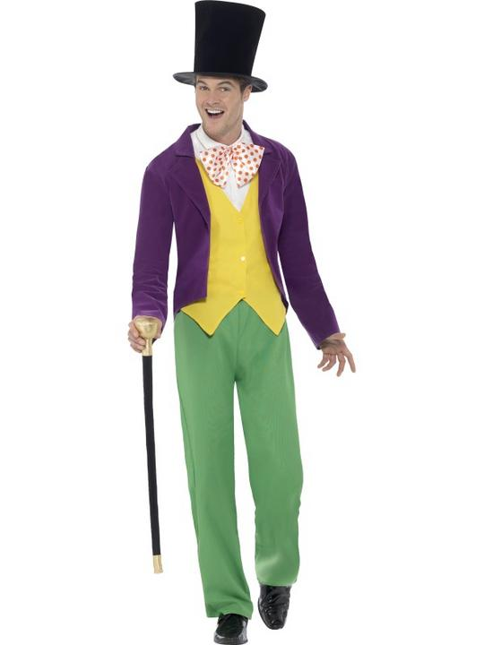 Men's Roald Dahl Willy Wonka Costume Thumbnail 1