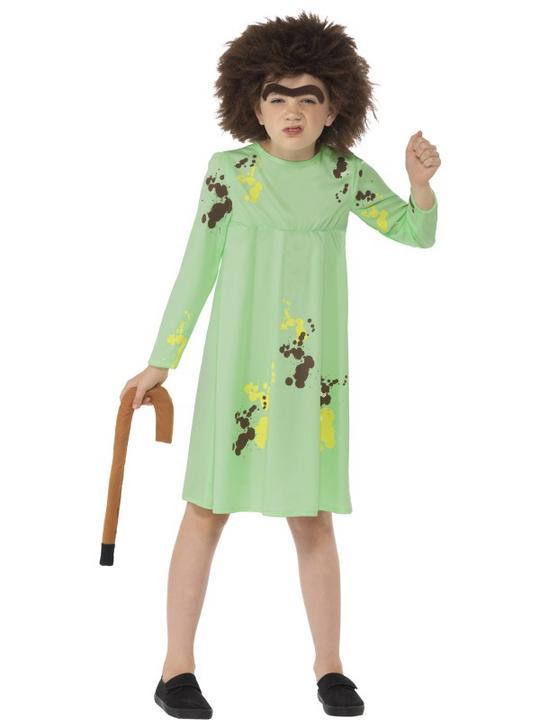 Girls Mrs Twit Costume kids Roald Dahl school book week Story Fancy Dress outfit Thumbnail 1