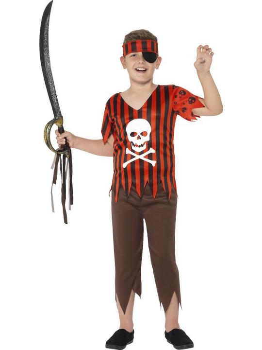 Boy's Jolly Rodger Pirate Costume Thumbnail 1