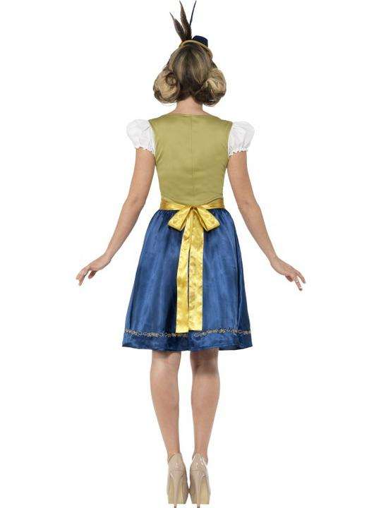 Traditional Deluxe Heidi Bavarian Girl Ladies Fancy Dress Costume Party Outfit Thumbnail 3