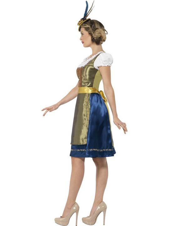 Traditional Deluxe Heidi Bavarian Girl Ladies Fancy Dress Costume Party Outfit Thumbnail 2