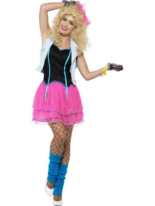 Women's 80's Wild Girl Costume Thumbnail 1