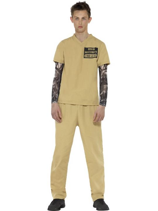 Teen Convict Fancy Dress Costume Thumbnail 1