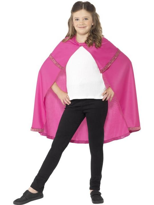 Cape Pink Fancy Dress Costume Thumbnail 1