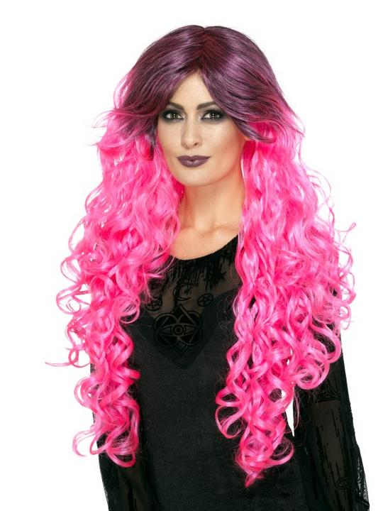 Gothic Glamour Wig, pink Thumbnail 1