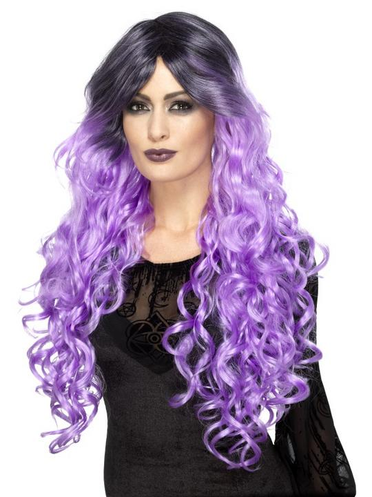 Gothic Glamour Wig, lilac purple Thumbnail 1