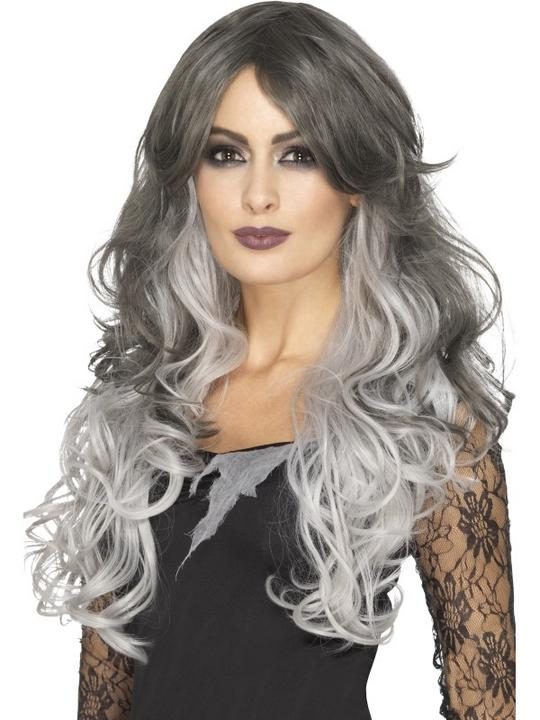 Deluxe Gothic Bride Wig, Heat Resistant/Styleable Thumbnail 1